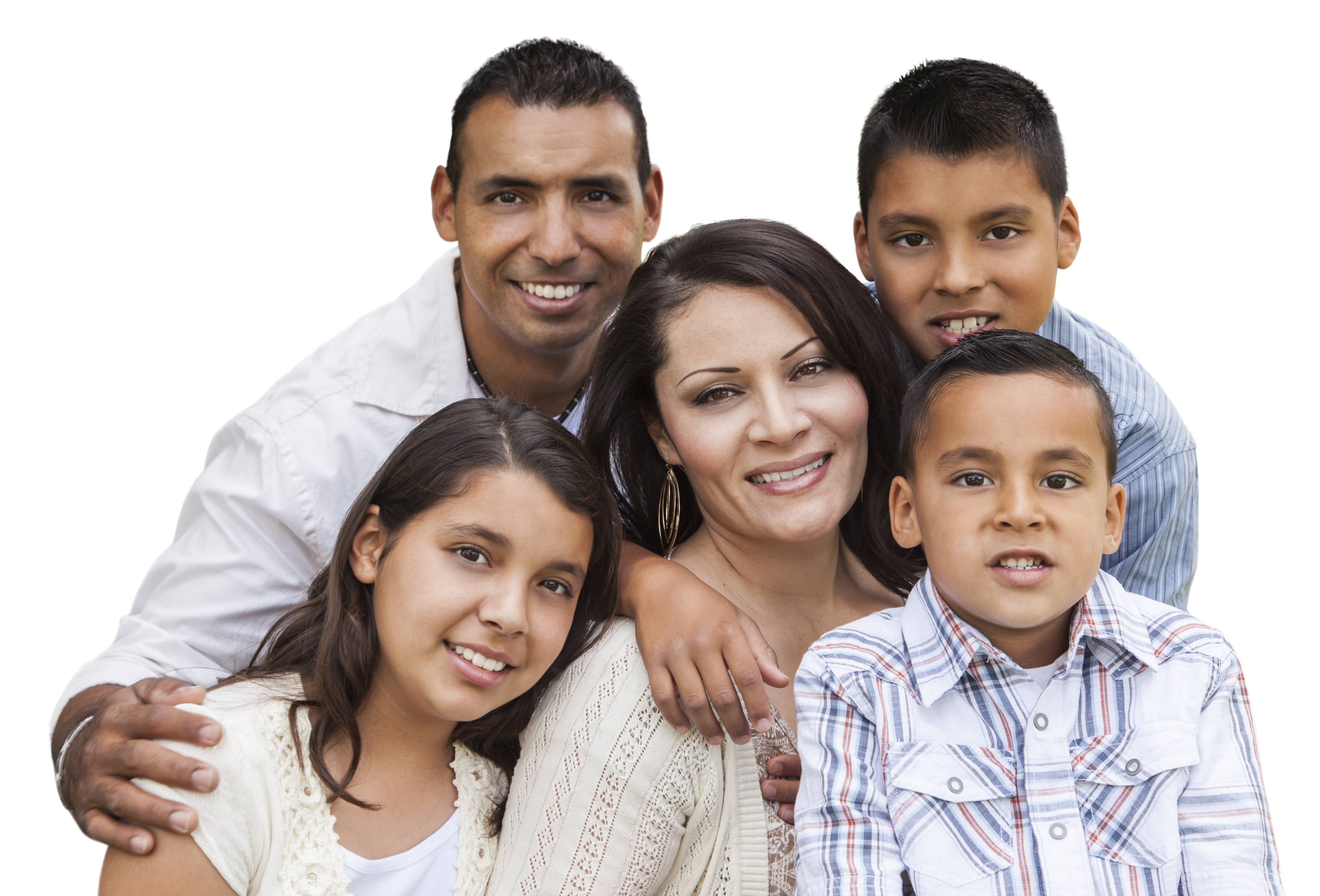 group of smiling family dental patients