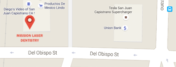 Map of doctor Faber's office in Capistrano plaza