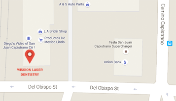 Dentist in San Juan Capistrano map location