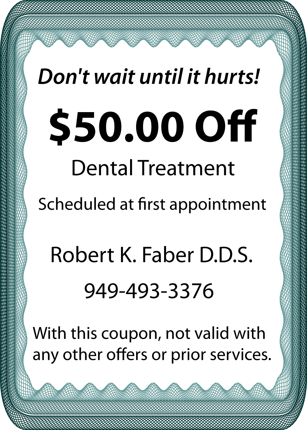 discount for dental treatment in san juan capistrano
