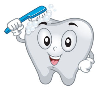 better oral hygiene tooth cartoon image